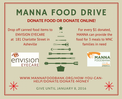 Envision Eyecare Manna Food Drive
